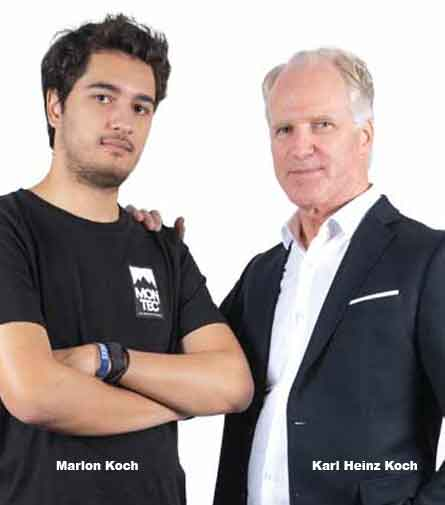 Karl Heinz Koch, CEO and Marlon Koch, CTO, MENU