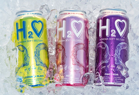 Sonoma Winemakers Launch H2O Sonoma Soft Seltzer Non Alcoholic, Wine-Infused Beverage