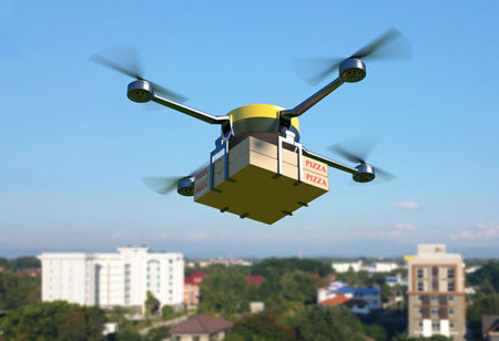 How Would Future Food Delivery by Drones Work?